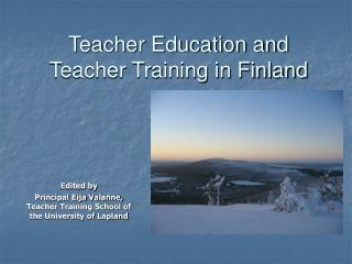 Teacher Education and Teacher Training in Finland