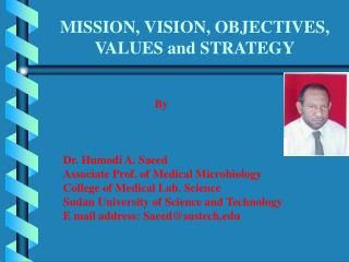 MISSION, VISION, OBJECTIVES, VALUES and STRATEGY