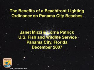 Janet Mizzi & Lorna Patrick U.S. Fish and Wildlife Service Panama City, Florida December 2007