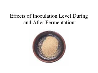 Effects of Inoculation Level During and After Fermentation
