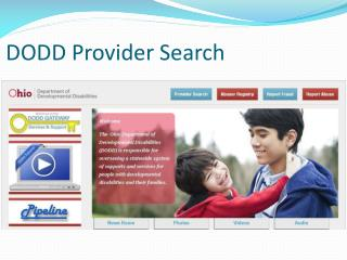 DODD Provider Search