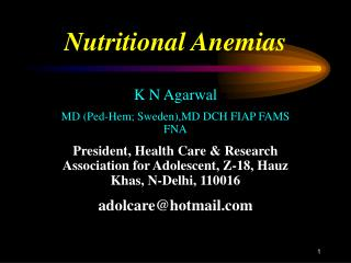 Nutritional Anemias