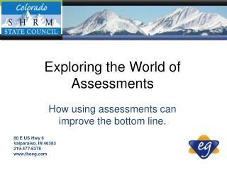 How using assessments can improve the bottom line.
