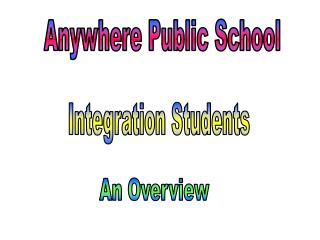 Anywhere Public School