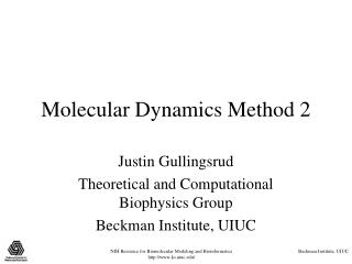 Molecular Dynamics Method 2