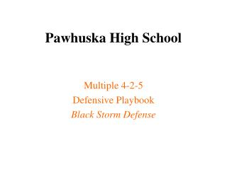 Pawhuska High School