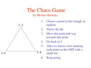 The Chaos Game by Michael Barnsley