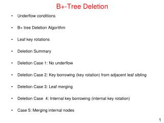 B+-Tree Deletion