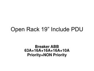 "Open Rack 19"" Include PDU"