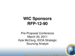 WIC Sponsors RFP-12-90