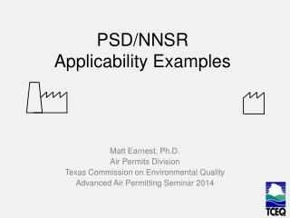 PSD/NNSR  Applicability Examples