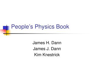 People's Physics Book