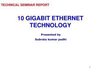 TECHNICAL SEMINAR REPORT