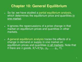 Chapter 10: General Equilibrium