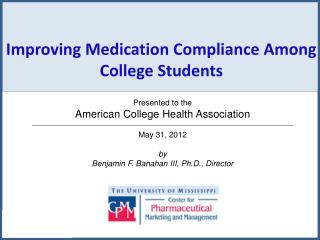 Improving Medication Compliance Among College Students