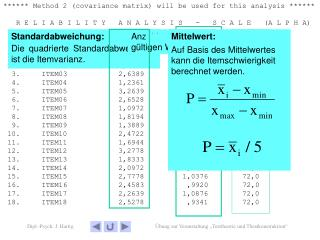 ****** Method 2 (covariance matrix) will be used for this analysis ******