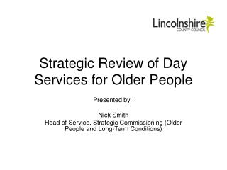 Strategic Review of Day Services for Older People