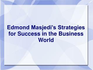 Edmond Masjedi
