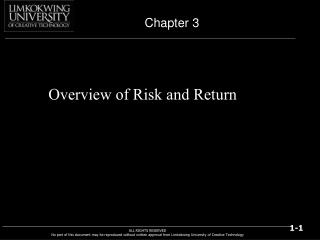 Overview of Risk and Return
