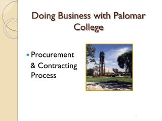 Doing Business with Palomar College