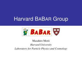 Harvard B A B AR Group