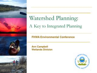 Watershed Planning: A Key to Integrated Planning