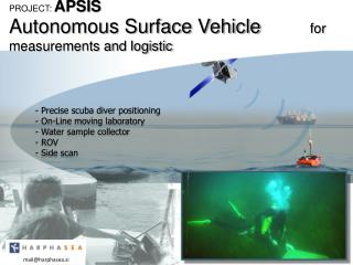 Autonomous Surface Vehicle          for measurements and logistic