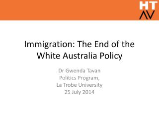 Immigration: The End of the White Australia Policy