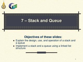 7 – Stack and Queue