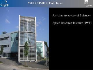 WELCOME to IWF Graz