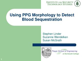Using PPG Morphology to Detect Blood Sequestration