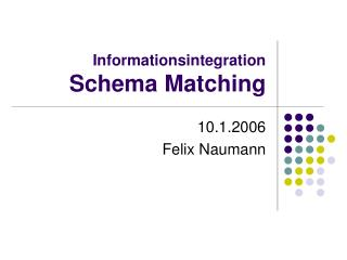 Informationsintegration Schema Matching