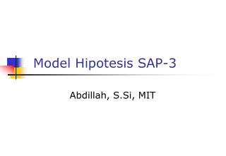 Model Hipotesis SAP-3