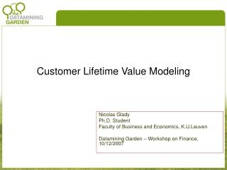 Customer Lifetime Value Modeling