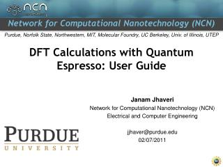 DFT Calculations with Quantum Espresso: User Guide