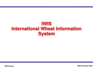 IWIS International Wheat Information System