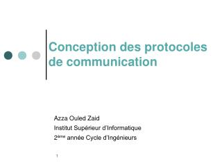 Conception des protocoles  de communication