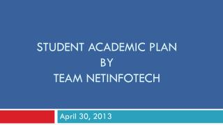 Student academic plan by team netinfotech