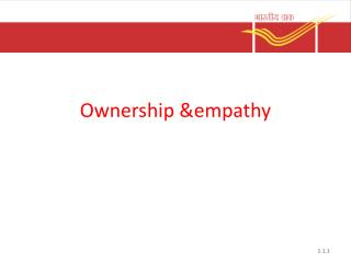 Ownership &empathy