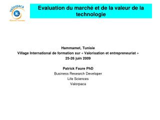 Hammamet, Tunisie Village International de formation sur « Valorisation et entrepreneuriat »
