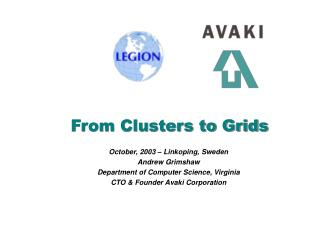 From Clusters to Grids