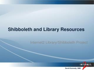Shibboleth and Library Resources