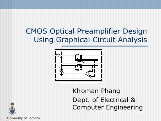CMOS Optical Preamplifier Design Using Graphical Circuit Analysis