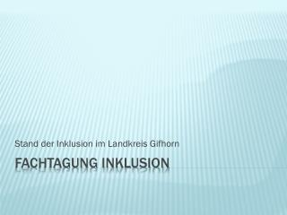 Fachtagung Inklusion