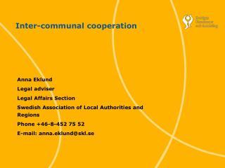 Inter-communal cooperation