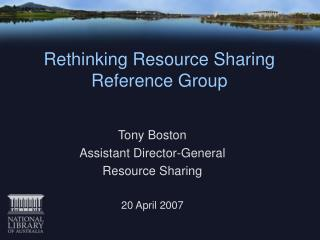 Rethinking Resource Sharing Reference Group