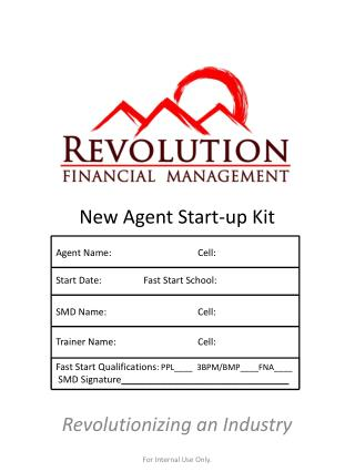 New Agent Start-up Kit