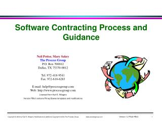 Software Contracting Process and Guidance