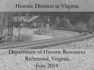 Historic Districts in Virginia