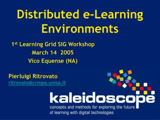 Distributed e-Learning Environments
